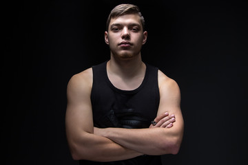 Image of the young strong man
