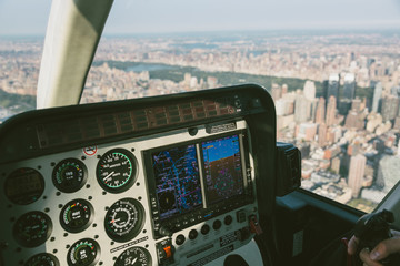 Helicopter Control Panel View While Flying