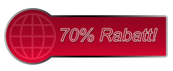 Aktions-Button / 70% Rabatt