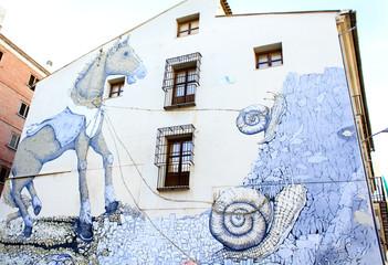 Graffiti painting in Valencia, Spain.