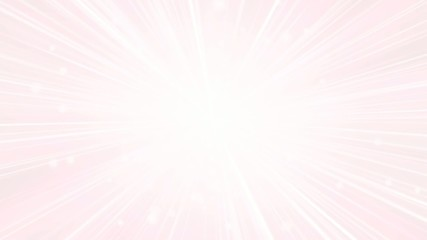 Light pink background with a flash of light and particles