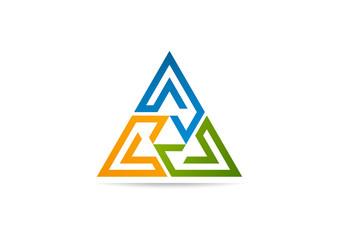 triangle business arrow logo