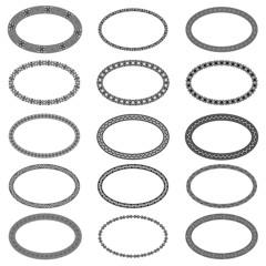 Mega set of 15 the most popular ellipse frames