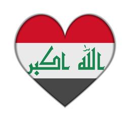 Iraq heart flag vector