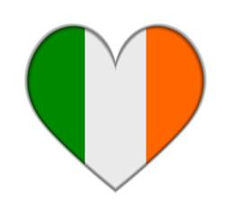 Ireland heart flag vector