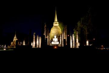 Light and sound showing, Sukhothai, Thailand.