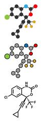 Efavirenz HIV drug molecule.