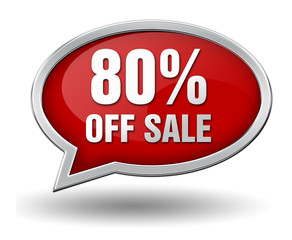 eighty percent off sale