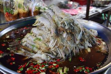Nourriture traditionnelle à Bangkok, Thailande