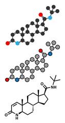 finasteride male pattern baldness drug molecule.