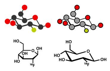 Fludeoxyglucose 18F (fluorodeoxyglucose 18F, FDG)