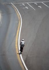 Ciclista sulla strada