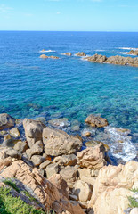 rocky shore in Costa Paradiso