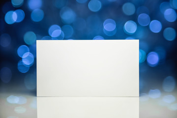 Greeting white blank card