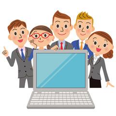 会社員でパソコンを見る