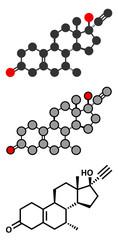 Tibolone endometriosis drug molecule.