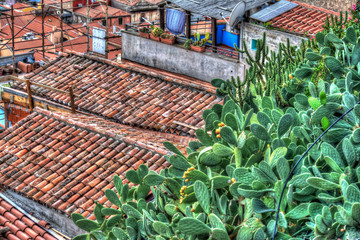 Italian roofs in a small village