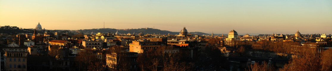 Panorama, Città, Roma, Panoramica,