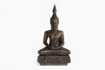 Small buddha meditation (studio white background wallpaper)