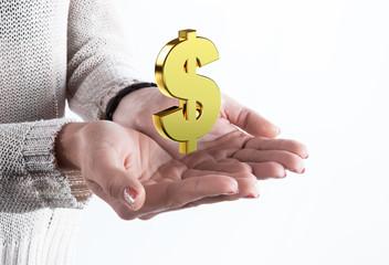 Dollaro sulle mani