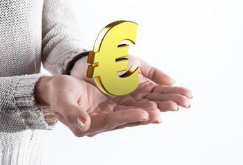 Mani con euro
