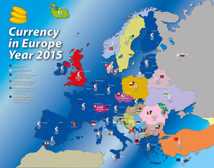 europe currency map euro zone