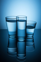 mineral water glasses