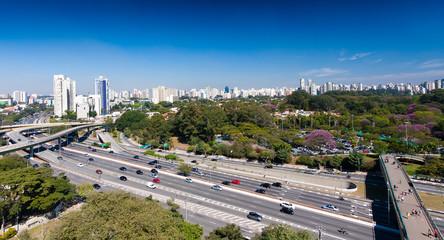 São Paulo Skyline, Ibirapuera Park, 23 de Maio Avenue