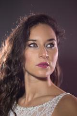 Bride model portrait