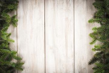 Fondo de Navidad con ramas de abeto y espacio para texto
