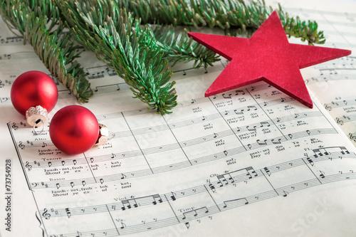Leinwanddruck Bild Adventslieder singen