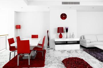 bright interior of living room