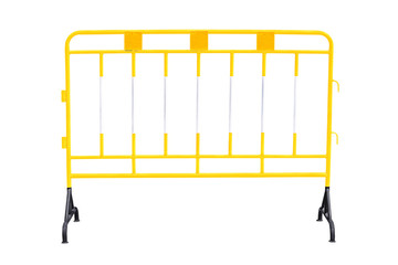 Yellow steel barrier