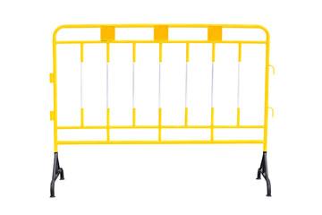 Yellow steel barrier