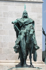 Statue of King Arpad in Budapest, Hungary