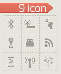Vector wireless icon set