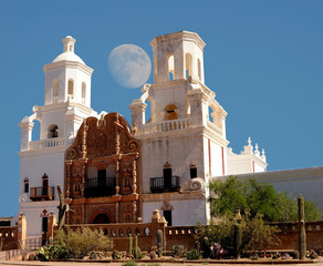 San Xavier Mission Moon