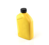 Lubricants , Motor oil bottle isolated on white background poster