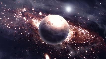 nebulae space scene - backgroundvideo