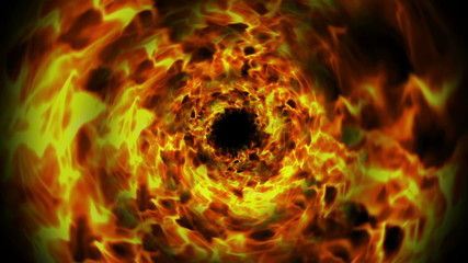 Flames Tunnel with Alpha Channel