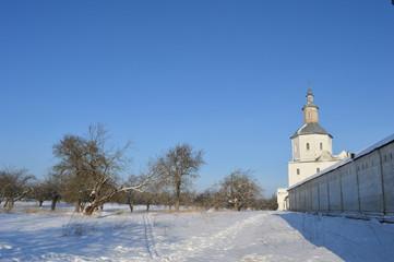 Зима в монастырском саду