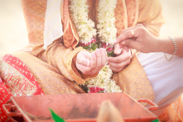 newlywed hands with mehendi