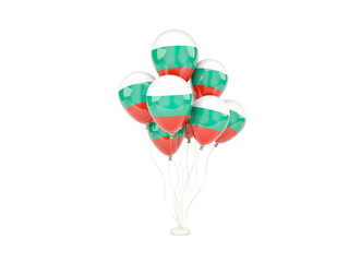 Flying balloons with flag of bulgaria