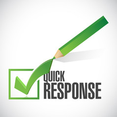 quick response check mark illustration