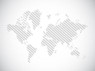 grey world map illustration design