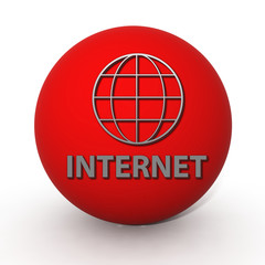 inernet circular icon on white background