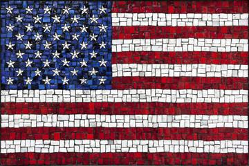 Mosaic United States of America flag