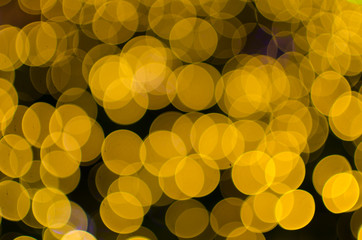 Night light Yellow bright bokeh background