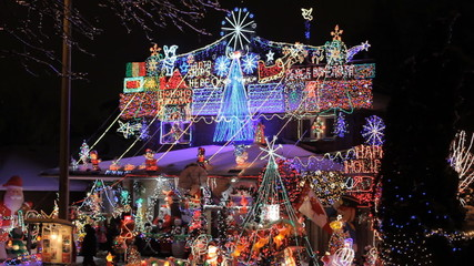 Beautiful Decorated Christmas House in Toronto