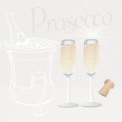 2 glasses of Prosecco